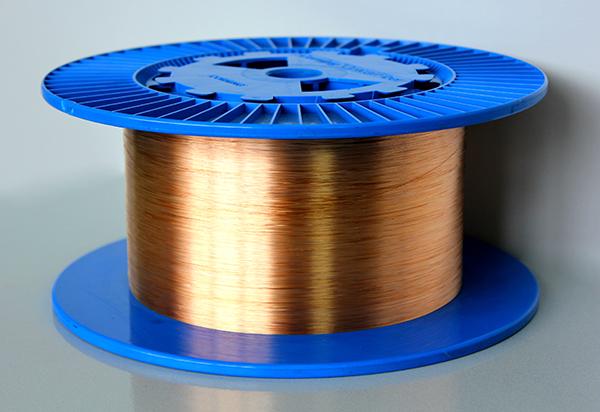 High strength metal-coated silica fibers