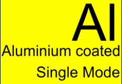 Aluminum coated optical fibers (Single Mode)